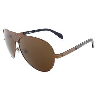 Diesel DL0119/S 37E Brushed Bronze Teardrop Aviator sunglasses - Brushed Bronze - 62-10-140