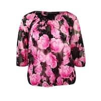 INC International Concept Women's 2PC Floral Blouse Set - floating petals