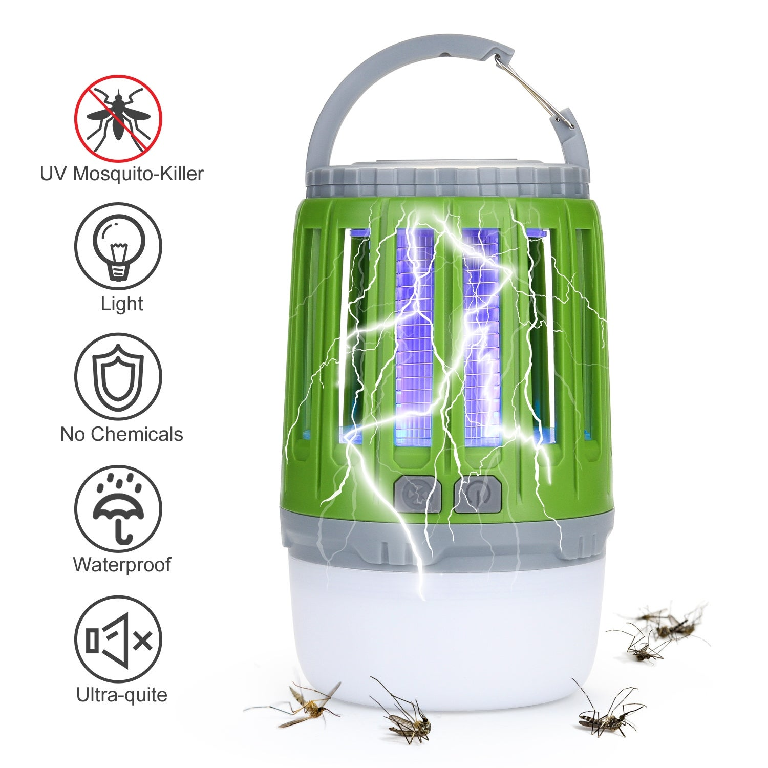 USB Mosquito Insect Killer Electric LED Light Fly Bug Zapper Catcher Lamp Black
