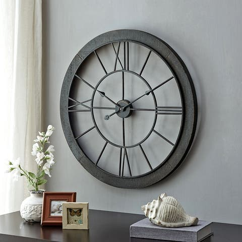 FirsTime & Co.® Timeworn Farmhouse Cottage Wall Clock, Metal, 27 x 2 x 27 in, American Designed - 27 x 2 x 27 in