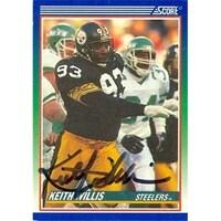 60f35771144 Pittsburgh Steelers 1990 Score No. 420 Keith Willis ed Football Card