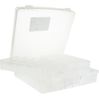 "We R Washi Translucent Plastic Storage Bin-14.1""X14.1""X4.1"" Case"