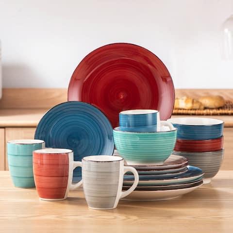 vancasso Bella 16-Piece Vintage Stoneware Dinnerware Set for 4