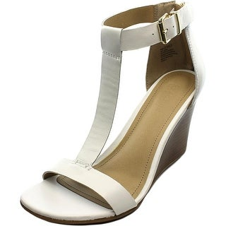 Kenneth Cole Reaction Ava Gave Open Toe Leather Wedge Sandal