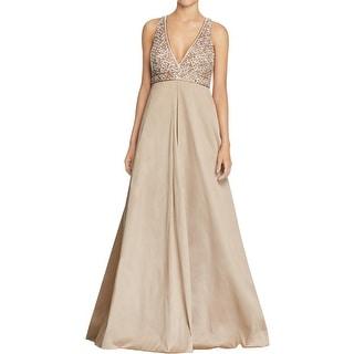 Aidan Mattox Womens Evening Dress Embroidered Embellished