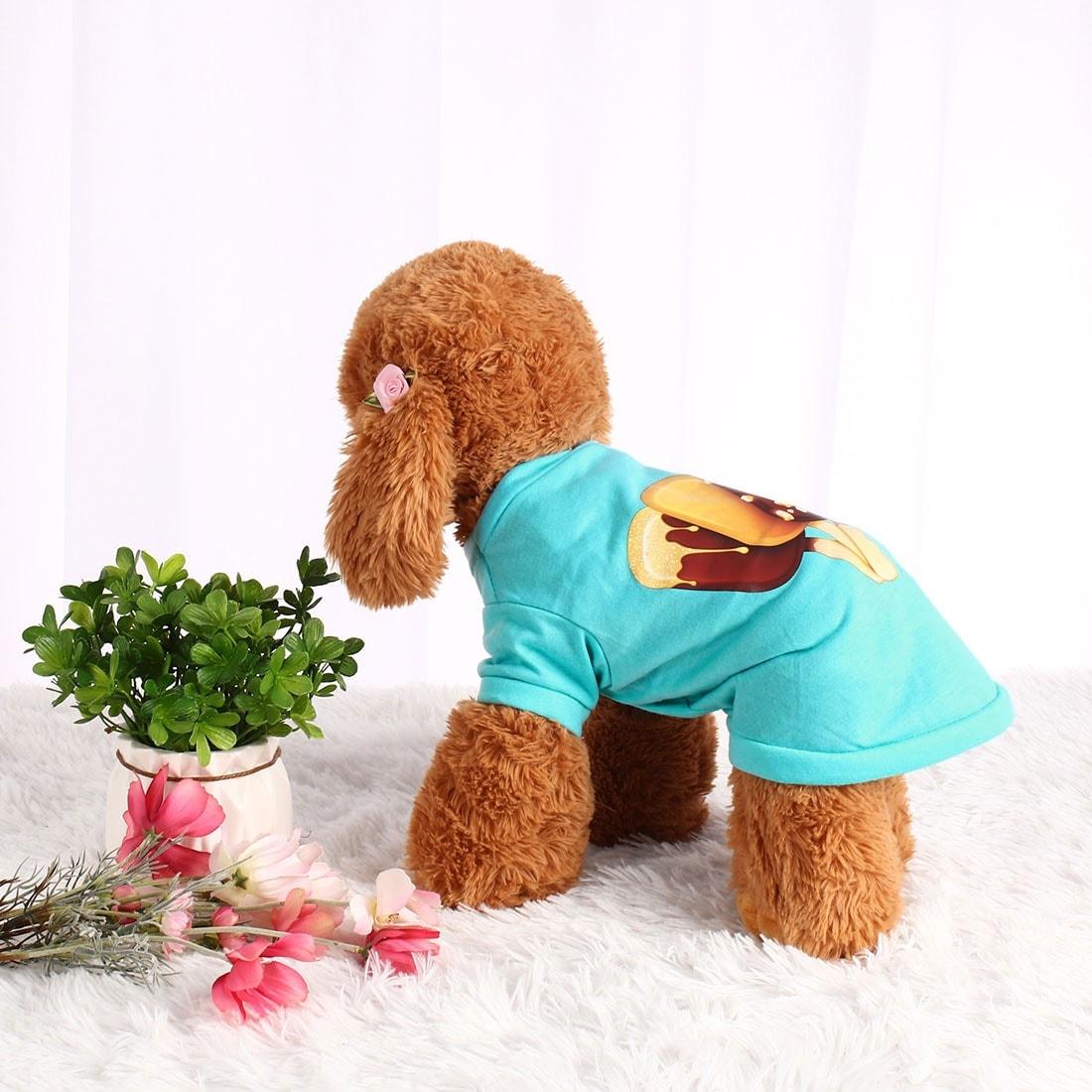 Dog T Shirt Puppy Small Pet Cat Sweatshirt Tops Clothes Apparel Vest Costume (L)