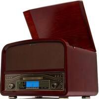 TechPlay TCP9560 BN, High Power 20W  Retro wooden 3 speed Blueto