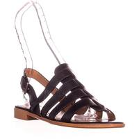 Coach Skyler Flat Gladiator Sandals, Black - 7 us