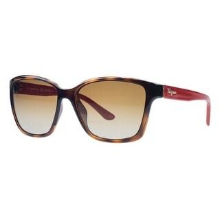 Salvatore Ferragamo SF716/S 207 Havana/Red Wayfarer Sunglasses - 58-16-135