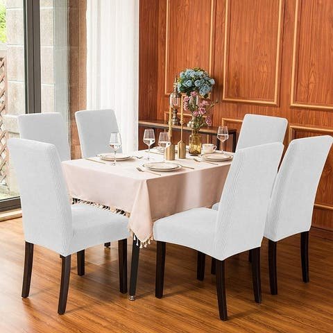 Subrtex Dining Chair Slipcover Set of 4 Furniture Protector