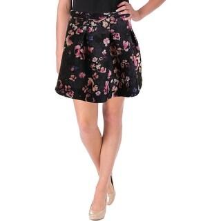 Essentiel Womens A-Line Skirt Pleated Floral Print