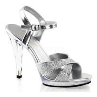 Fabulicious Women's Flair 419G Silver Multi Glitter/Clear