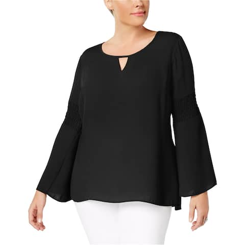 Ny Collection Womens Smocked Pullover Blouse