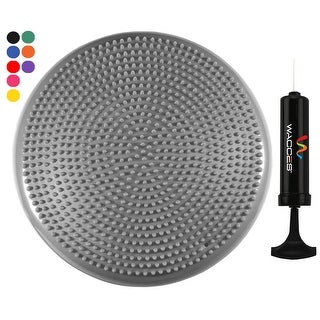 "Wacces 13"" Athletic Inflatable Massage Balance Stability Fitness Cushion Disc to Improve Balance & Flexibility, Grey"