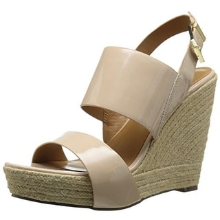 Report Signature Womens Cass Patent Espadrille Wedges