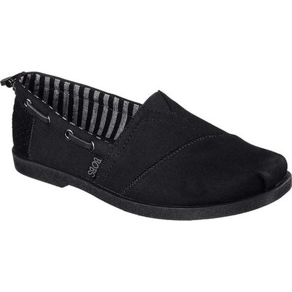 91bc29f45084c ... Women's Slip-ons. Skechers Women's BOBS Chill Luxe Traveler  Alpargata Black/Black