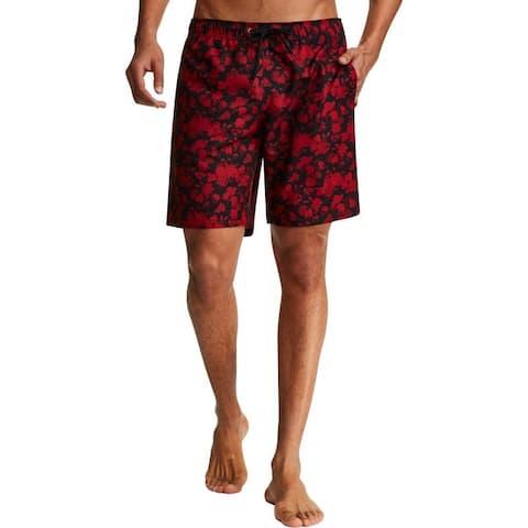 Tallia Sport Mens Floral Swimwear Board Shorts - Claret