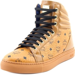 MCM Carryover High Round Toe Leather Sneakers