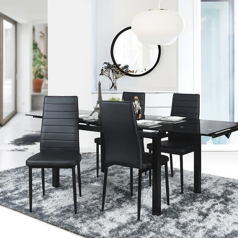 Porch & Den Wrightwood Black Dining Chairs