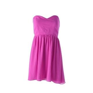 Aqua Womens Juniors Clubwear Dress Chiffon Strapless