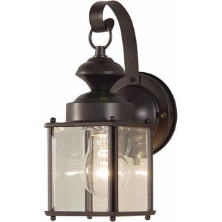 "Volume Lighting V9271 1 Light 11"" Height Outdoor Wall Sconce with Clear Glass"