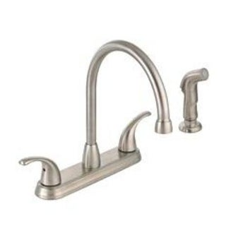 Mintcraft 67387-1104 Hi-Rise Brushed Nickel Kitchen Faucet/Spray, 2 handle
