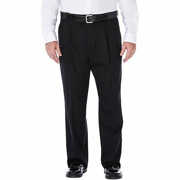 Shop Haggar Black Men Size 54x32 Big Amp Tall Classic Fit