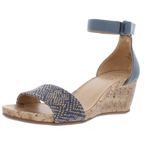 Naturalizer Womens Areda Wedges Woven Cork - Blue Multi