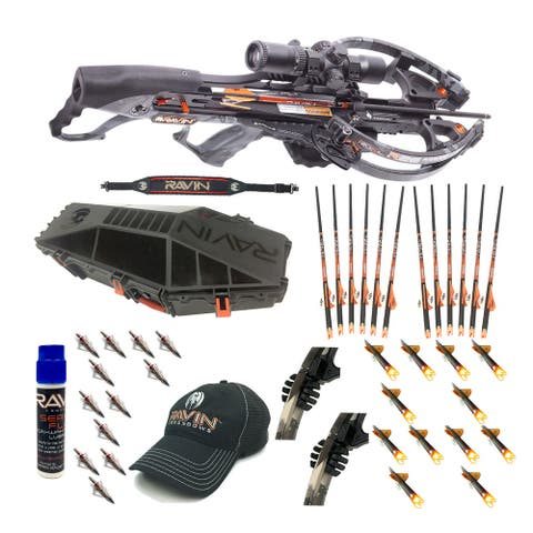 Ravin Crossbows R26 400 FPS Crossbow Package with Case & Arrows Bundle