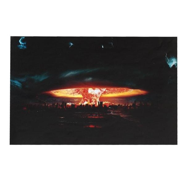 Unique Bargains Nuclear Explosion Pattern 15.6 Laptop Decoration Vinyl Skin Decal Sticker