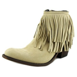 Independent Boot Company Margo Fringe Bootie Leather Bootie