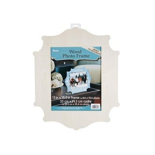 Darice Wood Photo Frame Unfinshd Flourish 13x15.5
