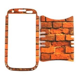 Unlimited Cellular Rocker Snap-On Case for Samsung Galaxy S3 (Red Bricks)