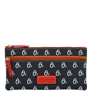 Dooney & Bourke MLB Orioles Double Zip Flat Pouch (Introduced by Dooney & Bourke at $85 in Oct 2015) - Black