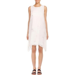 Eileen Fisher Womens Casual Dress Silk Printed Ivory M