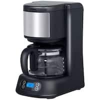 Gymax 5-Cup Coffee Maker Coffee Brewer Digital Control Timer w/ Glass Carafe Black