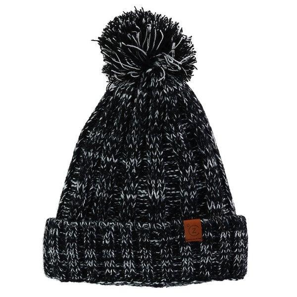 28907d4c6fb405 Shop ClimaZer0 Marled Knit Cuff Cap with Full Sherpa Lining - Free ...
