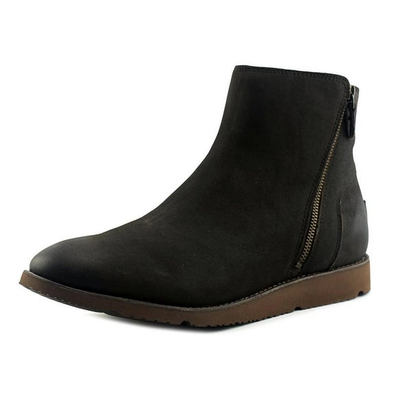 UGG Greer Men Round Toe Leather Brown Ankle Boot