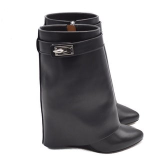 """Givenchy Womens Shark Line """"Wedge"""" Ankle Boots Size 38.5 / 8.5"""