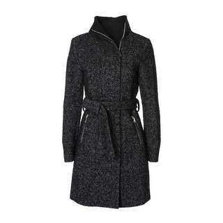T. Tahari Women's Eva Fitted Tweed Coat - XS