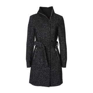 T. Tahari Women's Eva Fitted Tweed Coat