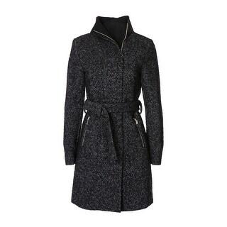 T. Tahari Women's Eva Fitted Tweed Coat