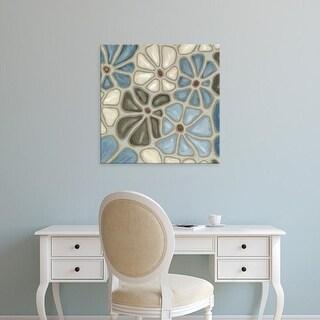 Easy Art Prints Karen Deans's 'Tiled Petals II' Premium Canvas Art