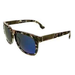Diesel DL0142/S 55X Khaki Tortoise Wayfarer Sunglasses