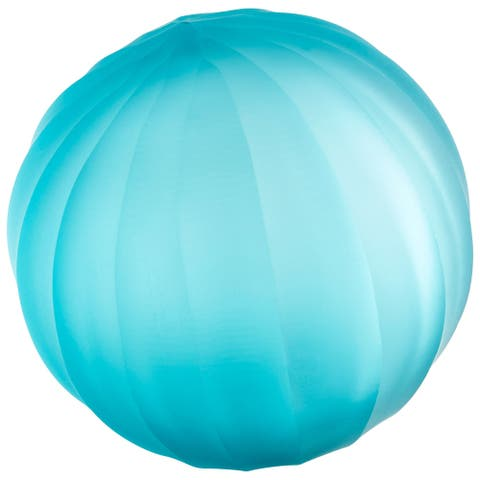 "Cyan Design 09967 Wani 4"" Diameter Glass Decorative Sphere - Turquoise Blue"