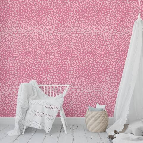 BOHO ANIMAL PRINT PINK Peel and Stick Wallpaper By Kavka Designs - 2' x 16'