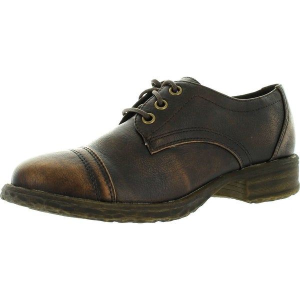 Volatile Womens Alfie Lace Up Fashion Oxford Shoes