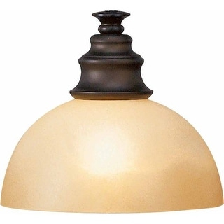 "Volume Lighting GS-411 3.5"" Height Amber Glass Dome Shade"