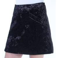 RACHEL ROY Womens Black Above The Knee Skirt  Size: 8