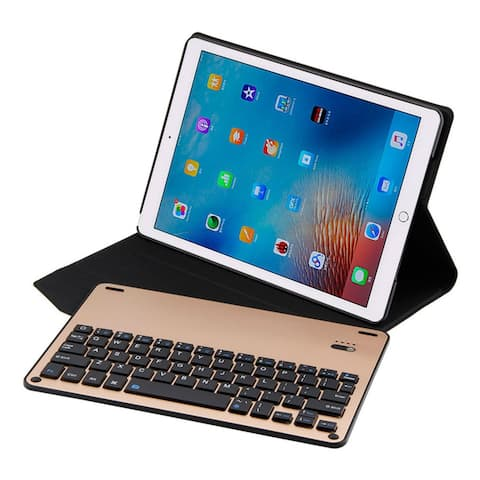 Thin Folio Cover With Removable Aluminum Bluetooth Keyboard For 10.5 iPad Pro